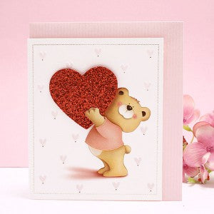 Heart Bear Mini Card