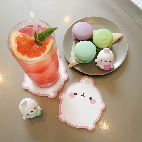 Molang Cup Coaster Pink 1 Piece