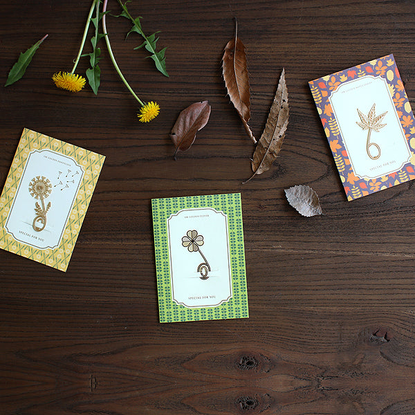 Golden Bookmark Card
