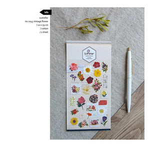 Suatelier `Vintage Flower` Stickers