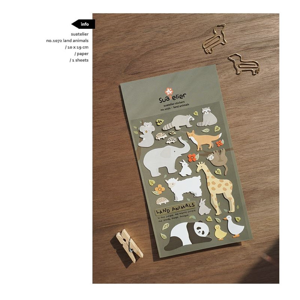 Suatelier `Land Animals` Stickers