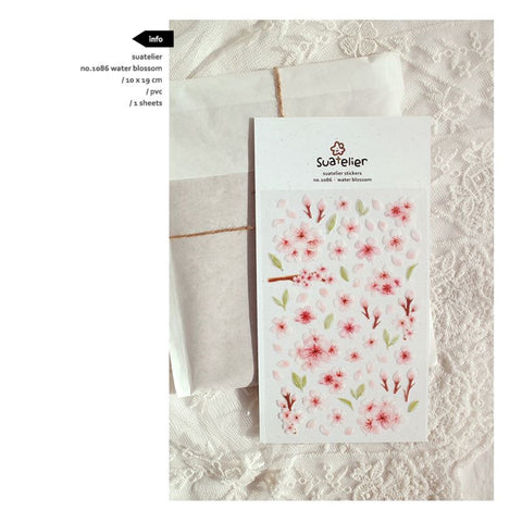 Suatelier `Water Blossoms` Stickers