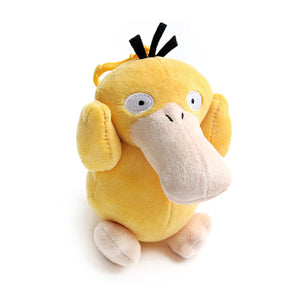 "Pokemon Psyduck Genuine Plush Rag Bag Charm Doll with Hook 5.1"" Cute Design"