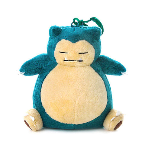 "Pokemon Snorlax Genuine Plush Rag Bag Charm Doll with Hook 5.1"" Cute Design"