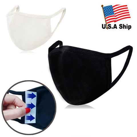 3D Face Mask with Filter Pocket / 100% Organic Cotton / Reusable / Washable