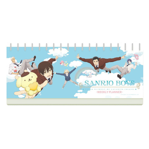 Sanrio Boys Weekly Stand-Up Planner