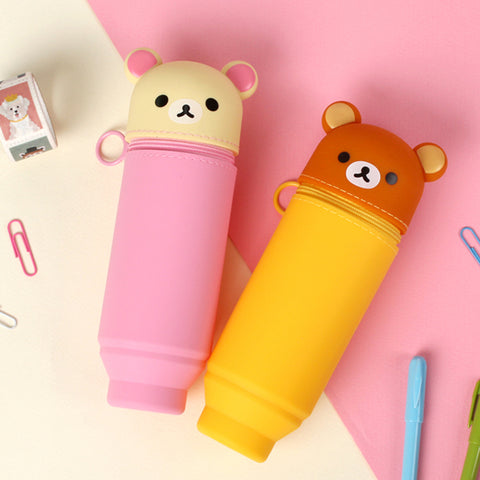 RILAKKUMA SILICON STAND PENCIL CASE