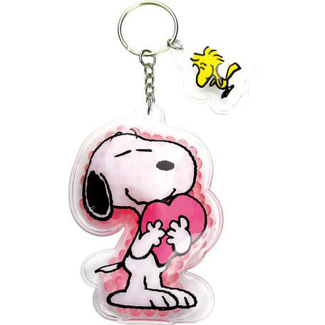 SNOOPY HEART GEL KEYCHAIN