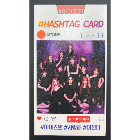 IZ*ONE Hashtag Card