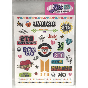 BTS Tattoo Sheets