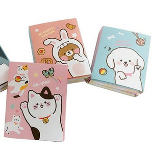 ANIMAL 6-PART STICKY MEMO PAD