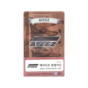 Ateez Transparent Cards