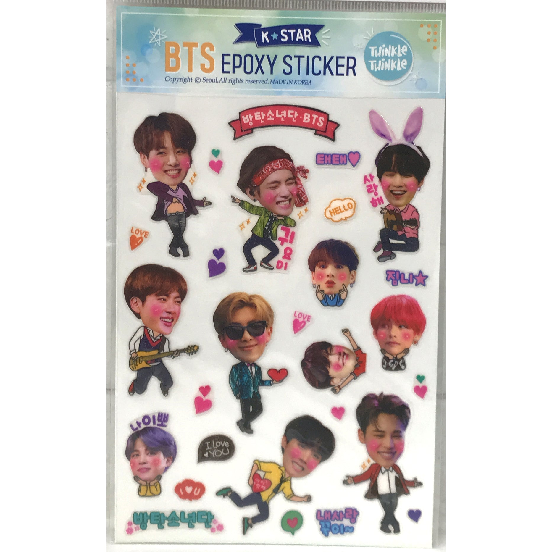 BTS Epoxy Sticker