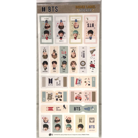 BTS Index Label Sticker