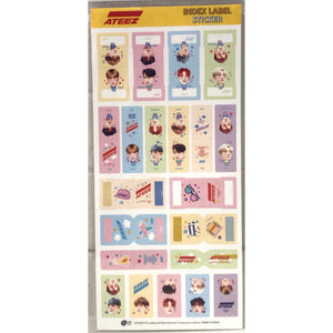 ATEEZ Index Label Sticker