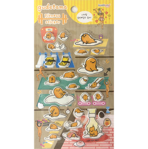 Gudetama Fitness Epoxy Stickers
