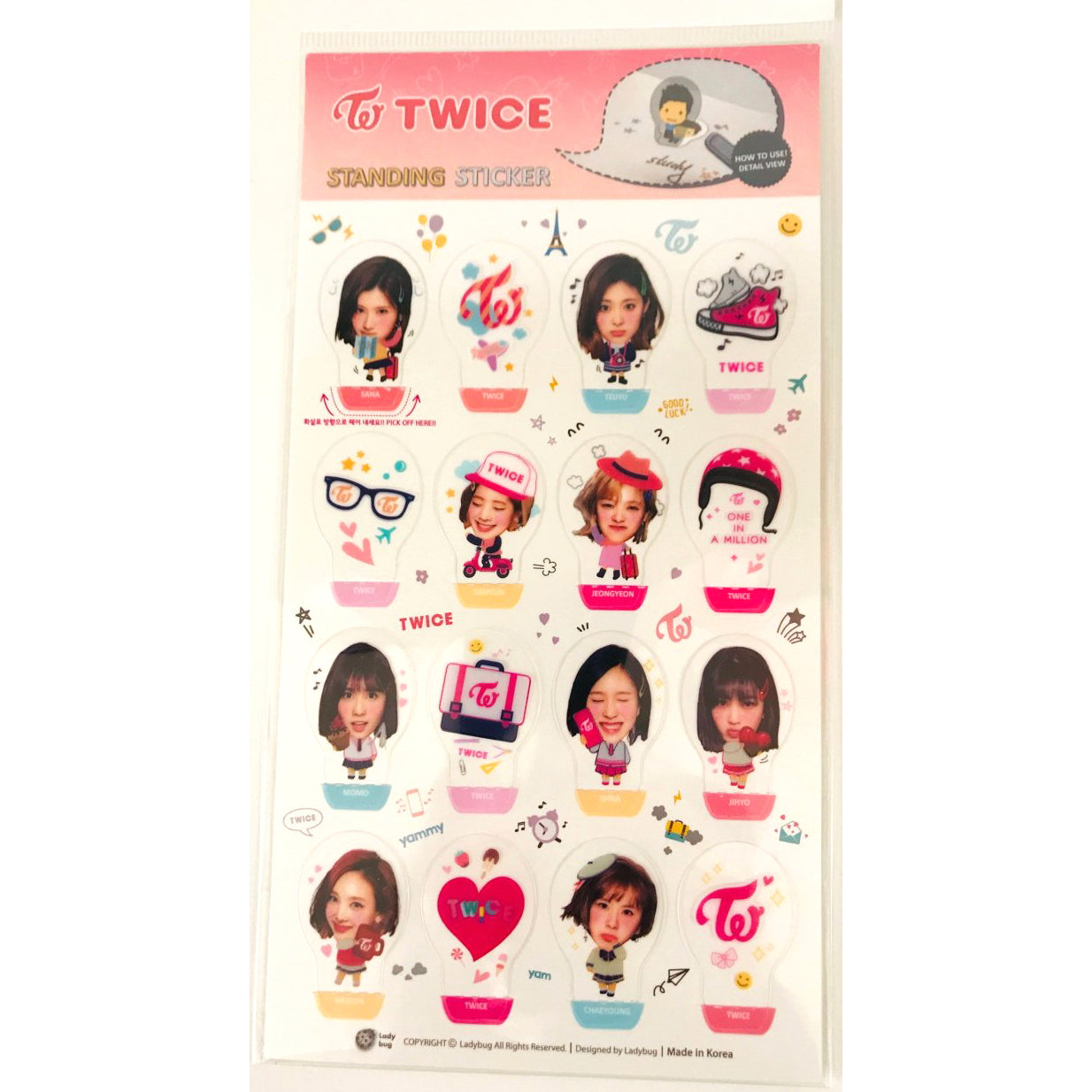 TWICE Standing Sticker