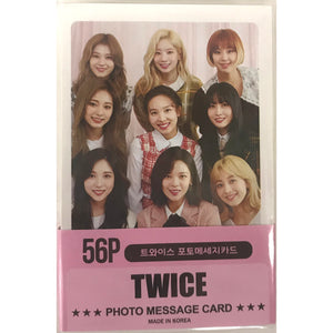 TWICE Photo Message Card