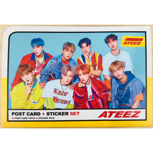 ATEEZ Postcard and Sticker Set