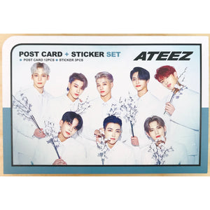 ATEEZ Postcard and Sticker Set Ver. 2