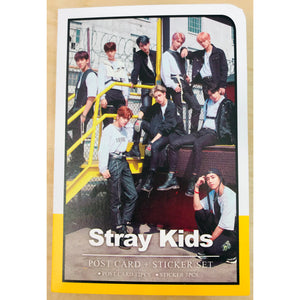 STRAY KIDS Postcard and Sticker Set