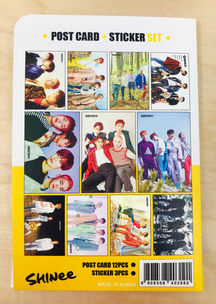 SHINEE Postcard and Sticker Set
