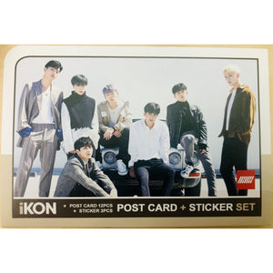 iKON Postcard and Sticker Set
