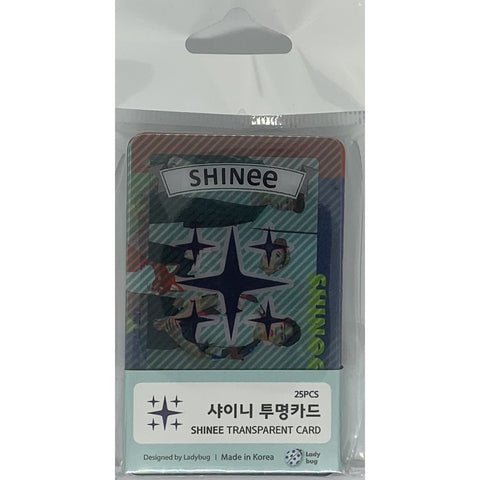 Shinee Transparent Cards