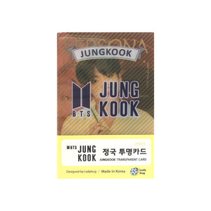 BTS Jungkook Transparent Cards