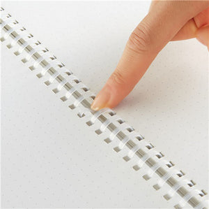 Kokuyo Soft Ring Notebook - A5 - Dotted - Clear - Bullet Journal
