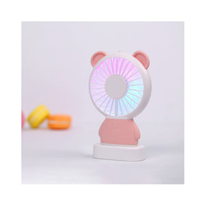 LED Handy Electric Character Portable Fan