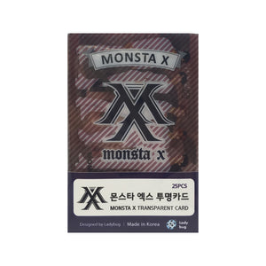 Monsta X Transparent Cards