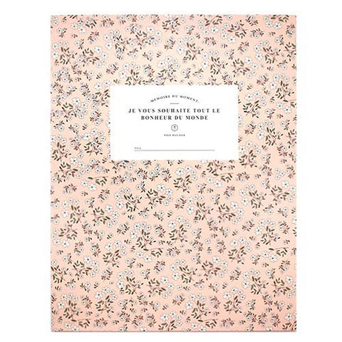 PINK WHITE FLOWER PAPER FILE