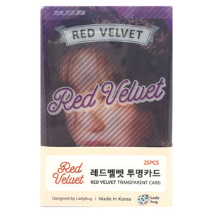 Red Velvet Transparent Cards