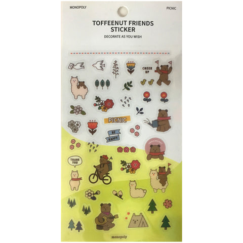 Toffeenut Friends 'Picnic' Stickers