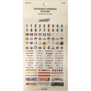 Toffeenut Friends 'Letter' Stickers