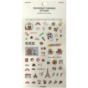 Toffeenut Friends 'Favorite' Stickers