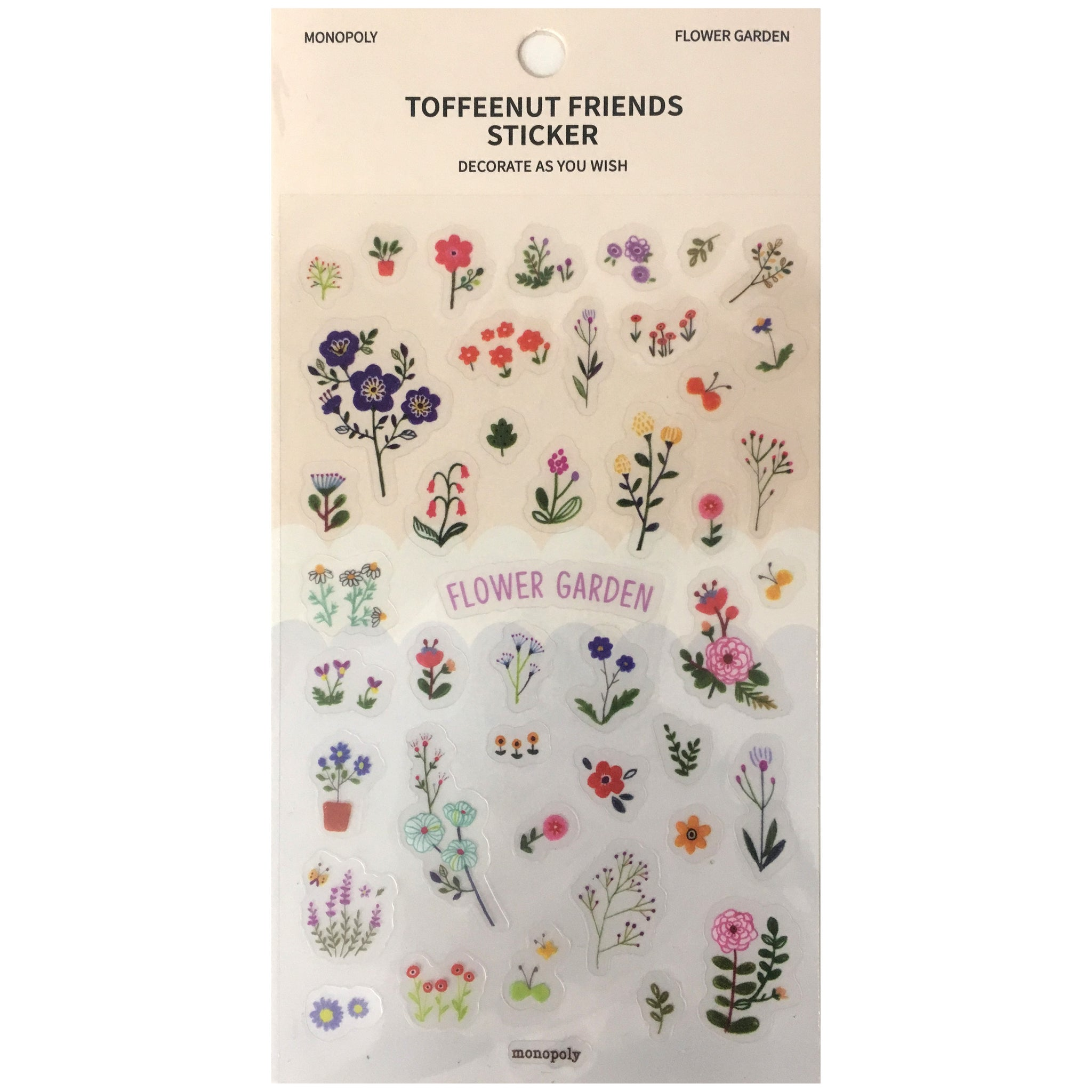Toffeenut Friends 'Flower Garden' Stickers