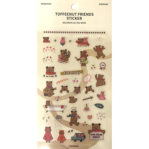 Toffeenut Friends 'Everyday' Stickers