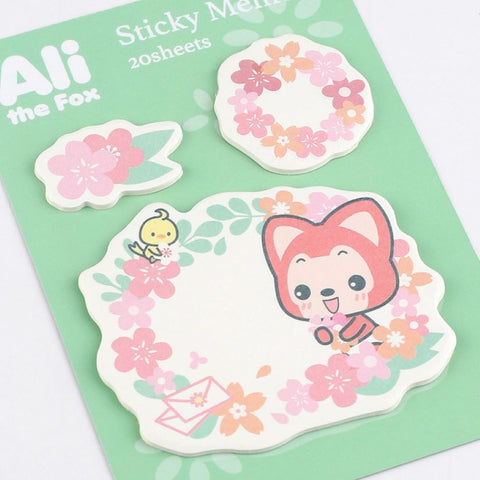 Ali The Fox Sticky Memo