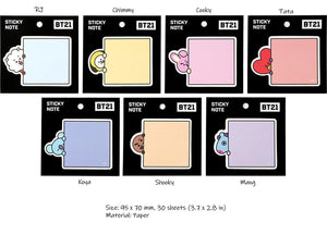 BT21 Sticky Notes