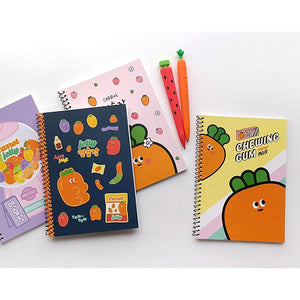 CARROT MINI A5 UNRULED NOTEBOOK