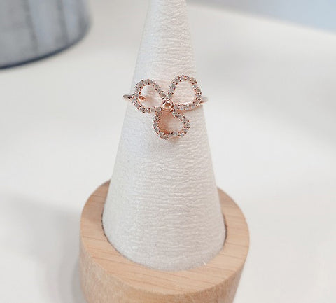 [SILVER침]Tahiti Rose Gold Ring