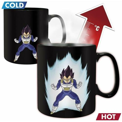 DRAGON BALL Z VEGETA MAGIC MUG & COASTER GIFT SET