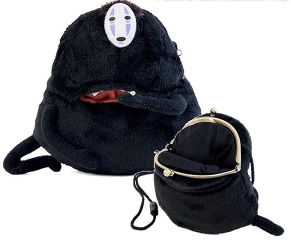 Studio Ghibli Spirited Away Gamaguchi Pouch Kaonashi No Face