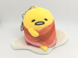 Gudetama Bacon Blanket Plush Keychain