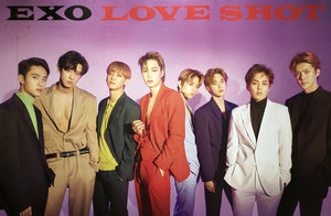 EXO 5TH REPACKAGE ALBUM [LOVE SHOT] OFFICIAL POSTER - PHOTO CONCEPT 1