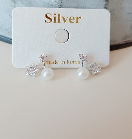 [SILVER92.5] Mini Pearl Star Earring