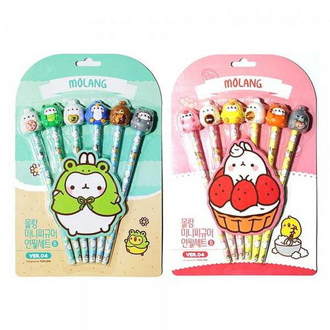 MOLANG FIGURE PENCIL 6-SET