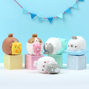 Molang Lazy Sunday Figure Set